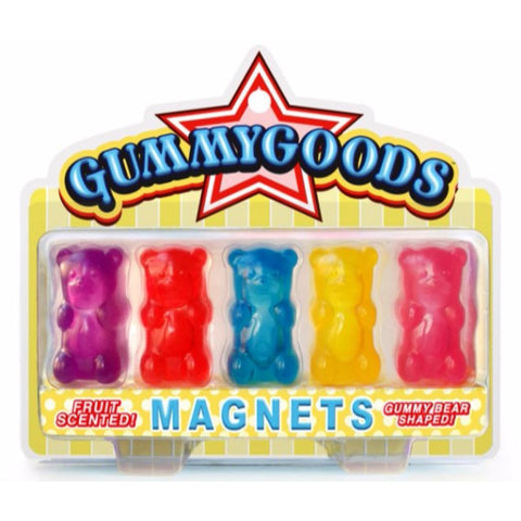 Gummy Bear Stuff - Gummy Bear shaped magnets. Part of our colelction of Gummy Bear shaped Nightlights, Keychains and the actual edible gummy bears!