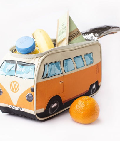 Das Stuff Vintage VW Bus inspired Lunch Bag. Lunch kit that looks like a Volkswagen Campervan