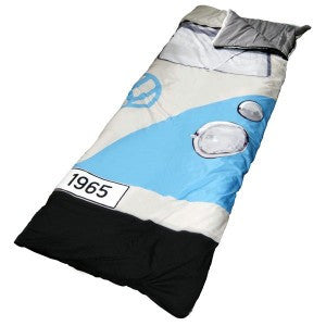 Das Stuff Licensed Volkswagen Products – Sleeping Bag made to look like the front of a classic 1965 Volkswagen Campervan