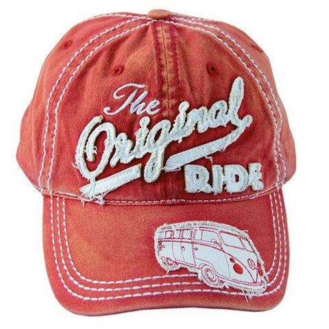 "Das Stuff vintage VW T1 Bus inspired baseball cap - ""The Original Ride"""