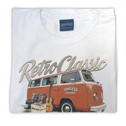 Womens RetroClassic Clothing T-Shirt - Mark's 'Timeless' Retro Bay Window and Camping Gear