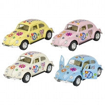 Das Stuff Die-Cast Metal Classic VW Beetle 1:32 1967 Hippie/Flower Power