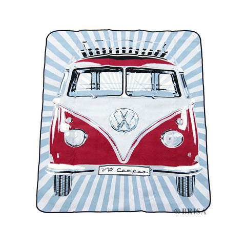 Brisa Official VW Licensed Products - Waterproof picnic blanket with image of Volkswagen T1 Van