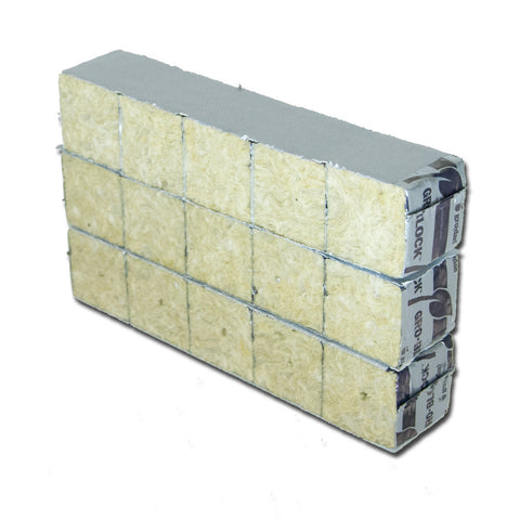 "Grodan Rockwool Mini Blocks 1.5"" x 1.5"" x 1.5"" inch Starter Plugs - 15 Blocks"