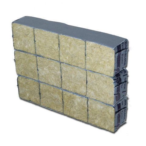 "Grodan Rockwool Mini Blocks 2"" x 2"" x 1.5"" inch Starter Plugs - 12 Blocks"