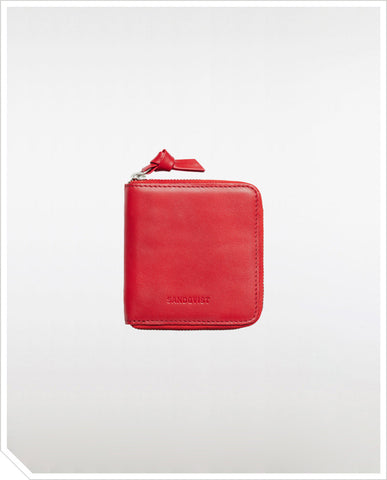 Aina Zipper Wallet - Red