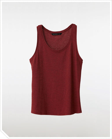 Army Tank Top - Wine Red