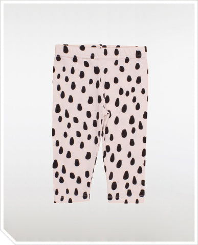 Baby Leggings - Black Drops