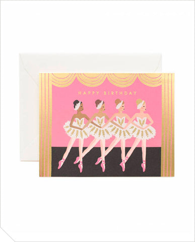 Birthday Greeting Card - Ballet