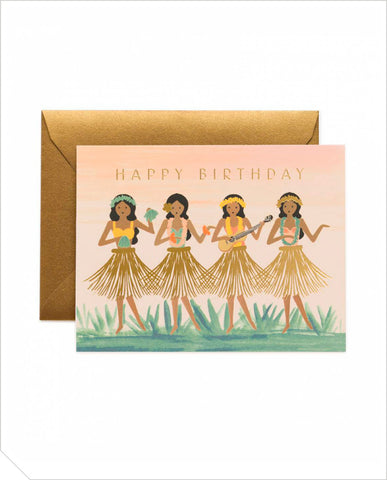 Birthday Greeting Card - Hula Birthday