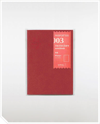 Refill Passport Notebook - Blank