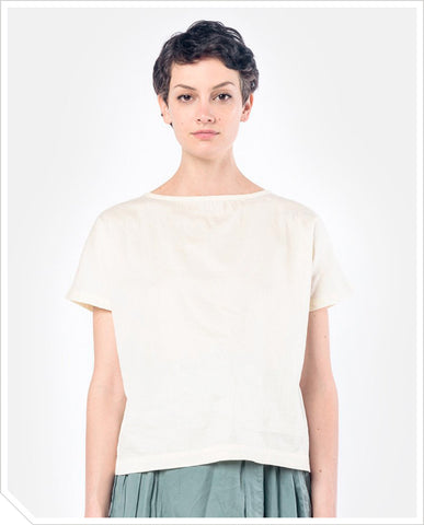 Boat Neck Top - Eggshell