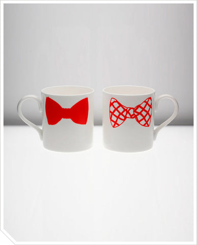 Bow Tie Mug (Charlie Dexter) - Red