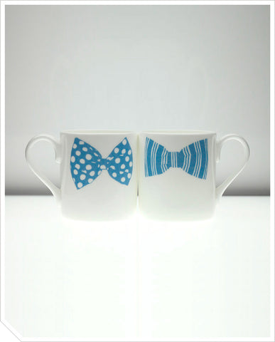 Bow Tie Mug (Mark Jeffery) - Blue