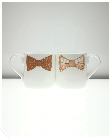 Bow Tie Mug (Simon Luke) - Brown