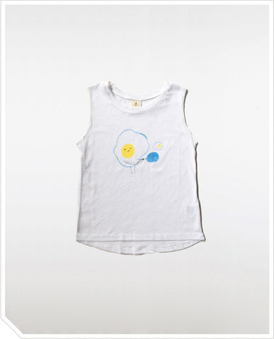 Buttercup Egg Tank - White