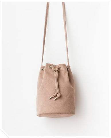 Canvas Bucket Bag - Mushroom
