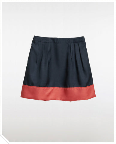 Colorblock Skirt - Midnight