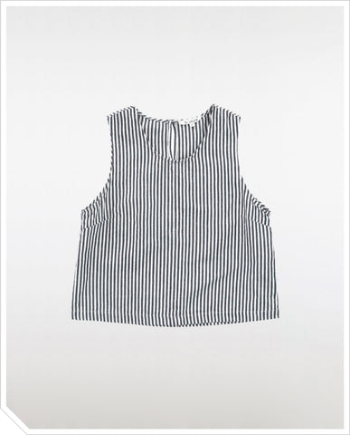Crew-Neck Tank - Black Stripe