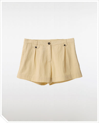 Edie Shorts - Pastel Yellow