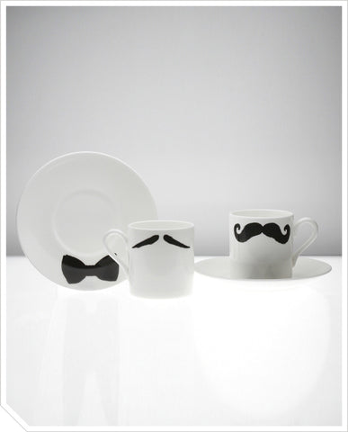 Espresso Cup and Saucer (Maurice Poirot) - Black