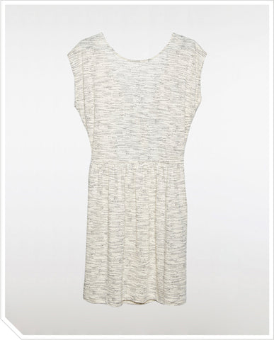 June Dress - White Patterned
