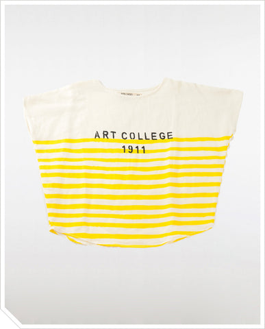 Kids Blouse Art College - White / Yellow