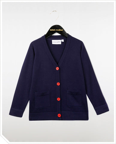 Knitted Cardigan - Dark Blue