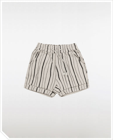 Linus Sweat Short - Cloud Stripe