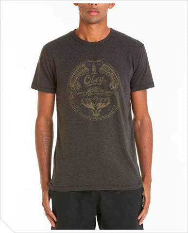 Obey Lotus Badge Tee - Graphite