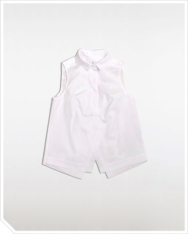Marble Sleeveless Shirt - White