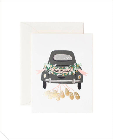 Wedding Greeting Card - Just Married Getaway
