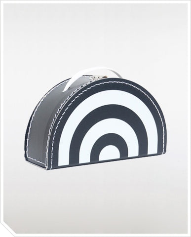 Monochrome Rainbow Suitcase