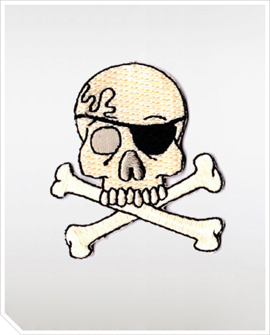 Iron On Patches - Skull Tattoo