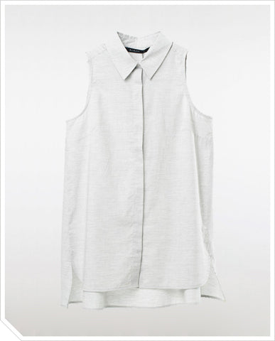 Angus Shirt Tunic - Grey