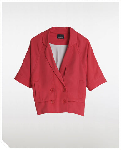 Slouchy Jacket - Power Red