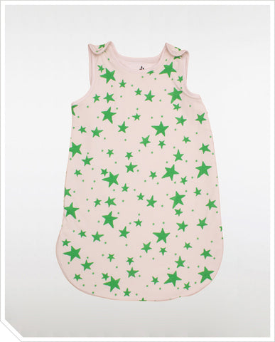 Sleeping Bag - Green Stars