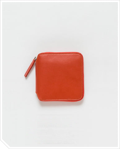 Square Wallet - Brick Red