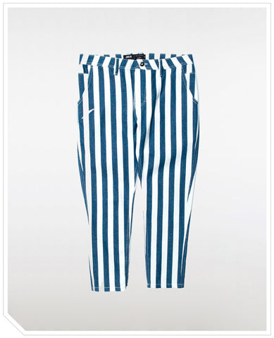 Sullie Ankle Pants - Indigo Stripe