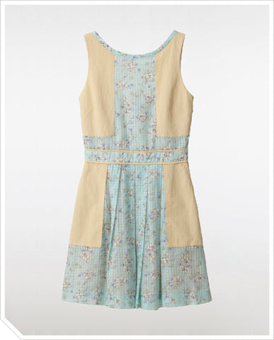 Summer's End Panel Dress - Misty Blue