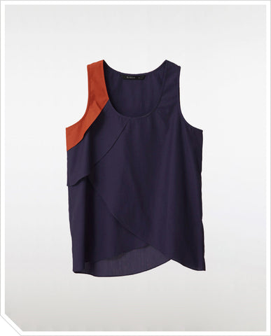 Summer's End Tank - Navy