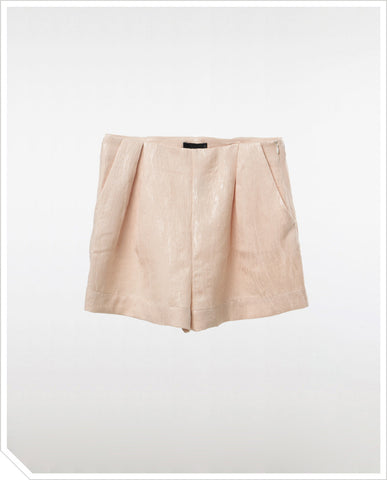 Textured Shorts - Antique Gold