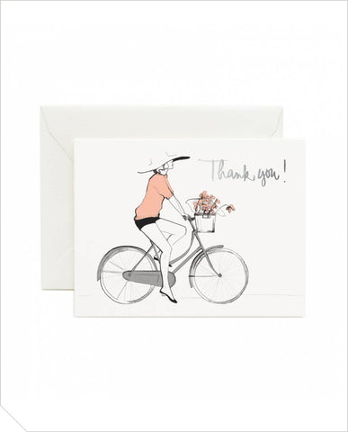 Thank You Greeting Card - Bicycle