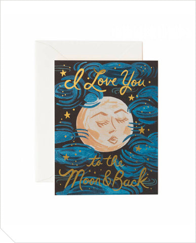 Love Greeting Card - To The Moon And Back