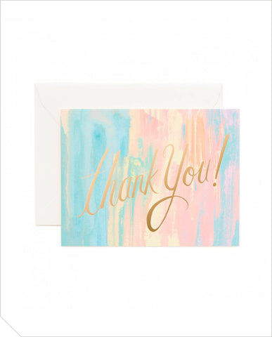 Thank You Greeting Card - Watercolour