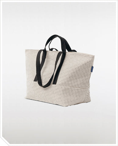 Weekend Bag - Natural Grid