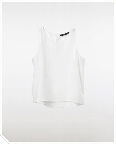 Zoe Crop Top - White