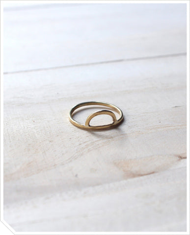 Half Round Ring - Brass
