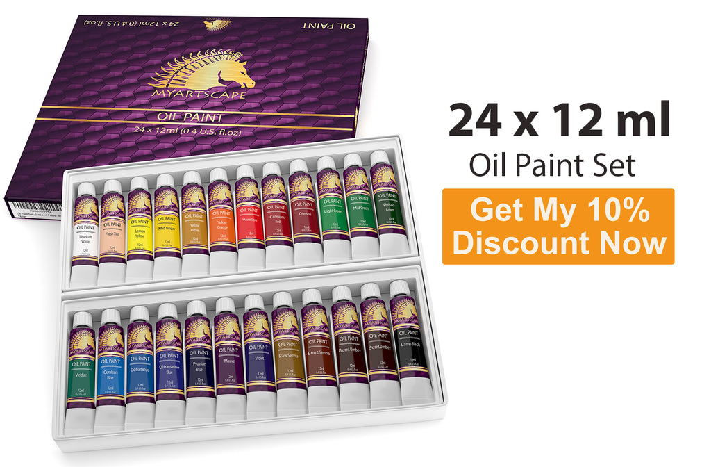 Oil Paint Set - 24 x 12ml Artist Quality Paints