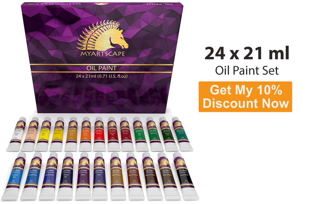 Oil Paint Set - 24 x 21ml Artist Quality Paints